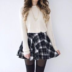 Brenda Skirt - Monochrome