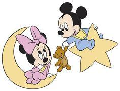 Baby Mickey & Minnie Moon/Star