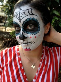 Day of the Dead Makeup.... I didn't want to wash it off..!