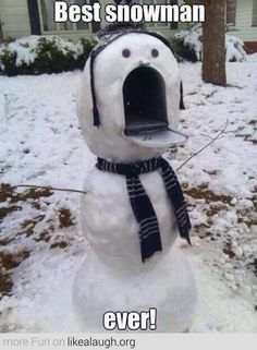 I wish I had a mailbox for thus !!! Snowman Mailbox