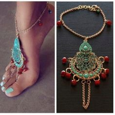 Foot jewelry - I love this!!!!