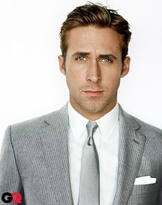 Ryan Gosling (in Ralph Lauren Black Label, shirt, suit & tie) photographed by Mario Testino for GQ magazine, January 2011.