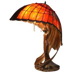 Peter Behrens 'Flying Lady' Desk Lamp