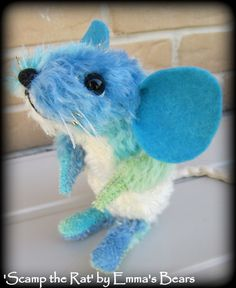 RAT PATTERN - brand new design from Emma's Bears - partially jointed soft sculpture rodent