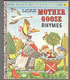 More Mother Goose Rhymes Little Golden Book Old Children S Books Vintage