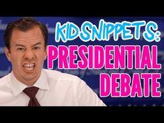 "Kid Snippets: ""Presidential Debate"" (Imagined by Kids) This is what debates are REALLY like! Hehehehehe!!"