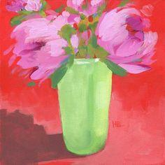 Heather Bennett Gallery of Original Fine Art Red Background, Fine Art Gallery, Flower Art, Peonies, Watercolor, Humor, Artist, Artwork, Flowers