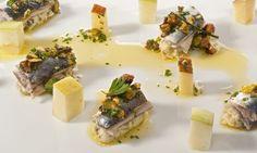 Receta de Sardinas, manzanas y queso de pepinillo