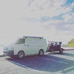 How we roll... Vamping & biking  #van#hiace#campervan #campervanlife#vanlife#moped#motorbike #lifeofadventure #openmyworld #rsa_outdoors #wanderlust #wanderaustralia #explore#travel#australia #ig_australia #visitnsw#nambuccaheads#travelfreedom #outside_project#shinephotochallenge #sunnypicchallenge #seekthepositive #seeaustralia #stunning_shot#vanlifers#projectvanlife#gotd_1137#vanlifers#freedomview#caravanplanet#