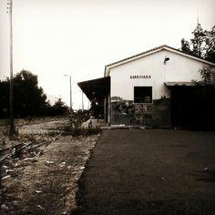 My town's station  Grunge train vintage