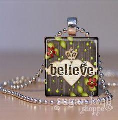 scrabble tile - believe