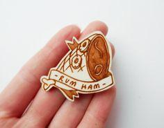 Charlie's Favorite Things Its Always Sunny in Philadelphia Brooch  'Rum Ham' by kateslittlestore, £7.00