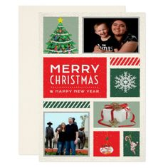 Personalized Photo Holiday Greeting Card - christmas cards merry xmas family party holidays cyo diy greeting card