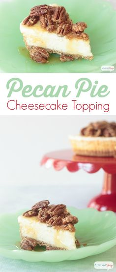 This pecan pie cheesecake topping is so easy to make, and it's a great ...