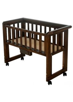 Troll Bedside Crib-Walnut I want one for baby Scowcroft!