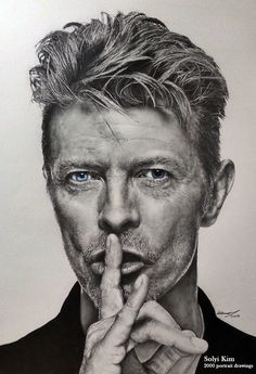 Portraits of David Bowie By Solyi Kim 2B, 4B, color pencil on paper,41 cm X 60 cm