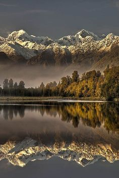 Highest peaks in the land.World Heritage New Zealand - Lake Matheson attracts more tourists every year than any other spot in New Zealand.rightly so. World Heritage New Zealand. Fox Glacier, Westland Tai Poutini National Park by Colin Monteath on Beautiful World, Beautiful Places, Beautiful Pictures, Beautiful Scenery, Amazing Photos, Amazing Places, Landscape Photography, Nature Photography, Photography Tips