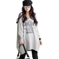 $10.09 Casual V-Neck Letter Print Plus Size Long Sleeved Hoodie For Women