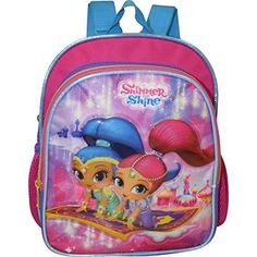 Shimmer Shine Backpack School Girls Mini Bag Preschool Deluxe Toddlers for sale online School Backpacks, School Supplies, Mini Bag, Preschool, Lunch Box, Bags, School Bags, School Stuff, Handbags