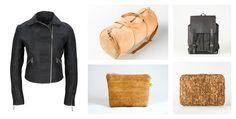 Lederjacke und Taschen aus Kork Diys, Leather Jackets, Bags, Simple, Bricolage, Do It Yourself, Homemade, Diy