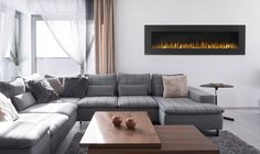 Completely transform your space by hanging a Napoleon Allure 72 Electric Fireplace. The Allure is a work of art, easily hang it on the wall and plug it in to create instant luxury. Napoleon Electric Fireplace, Modern Electric Fireplace, Wall Mount Electric Fireplace, Fireplace Wall, Wall Fireplaces, Electric Fireplaces, Discount Bedroom Furniture, Custom Drapes, Wall Mounted Tv