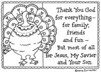 A number of faith inspired coloring sheets - several holidays listed