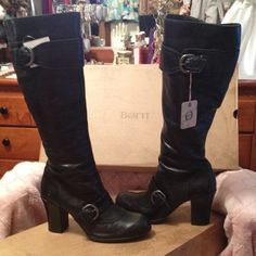 NIB BORN Black High Heel Boots 9.5 ❤️ NIB BORN Black High Heel Boots 9.5 ❤️ Brand-new boots and box! Never used and mint condition lather is so soft. Comes from a non-smoking home pet free. I am a motivated seller ready to hear your offer!☝️❤️ Born Shoes Heeled Boots