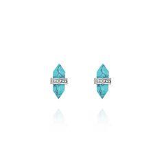 Medina Turquoise Stud Earrings. Turquoise. Get them at: https://www.chloeandisabel.com/boutique/cassandra