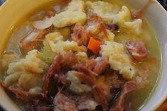 Pennsylvania Ham Potpie Recipe~ such a great comfort food! Amish Recipes, Pork Recipes, Ham Pot Pie, Pennsylvania Dutch Recipes, Dumplings For Soup, Pork Ham, Soups And Stews, Food Hacks, Main Dishes