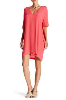 Lush V-Neck Shift Dress