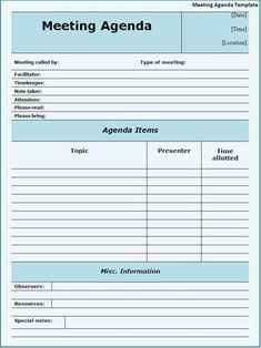 Attractive Meeting Agendas Click On The Download Button