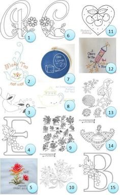 Free hand-embroidery patterns · Needlework News | CraftGossip.com