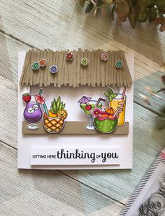 Mix It Up; Cool Cards, Diy Cards, Tiki Hut, Alcohol Markers, Friendship Cards, Little Flowers, Plushies, Teaser, Greeting Cards