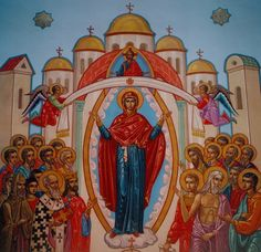 The Patron Icon from the ceiling of St. Mary the Protectoress Ukrainian Orthodox Sobor in Winnipeg, MB