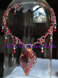 Handmade Chain Maille Necklaces - A & M  Dream Links  #hand-crafted #jewelry