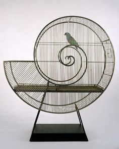 "The ""Fun""ctional art of Nicola L. Probably my favorite bird cage EVER!"