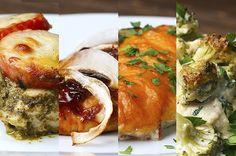 Aprenda a fazer os frangos de 4 jeitos. | Escolha uma destas quatro receitas para preparar seu frango hoje à noite
