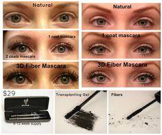 Younique 3D fiber Lash Mascara Before and After, Order Here: www.youniqueproducts.com/savannahgillis/