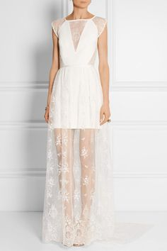 Rime Arodaky   Wilder lace, organza and crepe dress and gown   NET-A-PORTER.COM