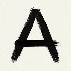 Letter A brush stroke PSD typography  | free image by rawpixel.com / Mind Typography, Lettering, Free Illustrations, Brush Strokes, Free Images, Alphabet, Star, Amazing, Painting