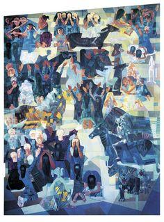 """Os painéis """"Guerra"""" e """"Paz"""", de Candido Portinari, poderão ser vistos no Theatro Municipal do Rio de Janeiro, com entrada Catraca Livre, até o dia 30 de dezembro,  mais de cinquenta anos depois da primeira e única exposição no Brasil."""