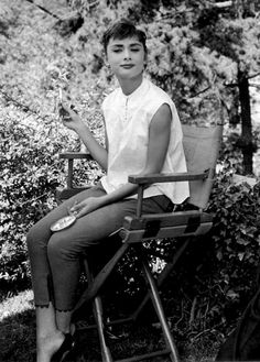 audreyhepburn-a-style-icon: Audrey Hepburn photographed by Mark Shaw during the filming of Sabrina in 1953.