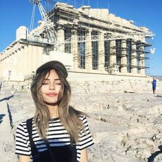 Sweaty & blinded by the sun  but we managed to see the amazing Parthenon before we fly off!
