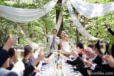 ディスプレイ / 軽井沢 / ハウスオブ軽井沢 / ガーデン / ウェディング / 乾杯 / ナチュラル / ネイチャー / 結婚式 / wedding / オリジナルウェディング / プティラブーシュカ / トキメクウェディング