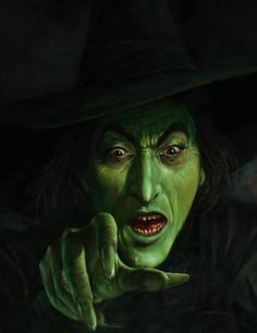 """The Wicked Witch of the West"" - Character in L. Frank Baum's book, ""The Wonderful Wizard of Oz"".  She was incredibly portrayed by Margaret Hamilton."