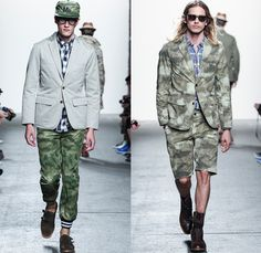 Mark McNairy New Amsterdam 2014 Spring Summer Mens Runway Collection - New York Fashion Week - Rubber Duckie Camouflage Outdoorsman Plaids Bomber Jackets Parkas Overalls: Designer Denim Jeans Fashion: Season Collections, Runways, Lookbooks and Linesheets