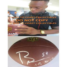 Brandon Marshall, Denver Broncos, Signed, Autographed, NFL Duke Football, a Coa with the Proof Photo of Brandon Signing Will Be Included with the Football
