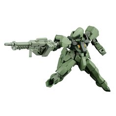 This is a 1/144 Scale Gundam HG Orphans Graze Commander Type Hobby Model Kit Figure. These are produced by the good folks over at Bandai and they're a Japanese import model kit. The Gundam stands abou
