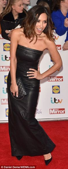 'Don't get dressed alone': Myleene quipped that she suffered quite the fashion fail gettin. Fashion Fail, 90s Fashion, Runway Fashion, Girl Fashion, Pride Of Britain, Hobble Skirt, Sexy Legs And Heels, Long Maxi Skirts, Leather Dresses