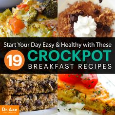 19 Crockpot Breakfast Recipes: Start Your Day Easy & Healthy Eating a healthy, filling breakfast is a great way to start your day, but we don't always have the time to prepare one. Breakfast Crockpot Recipes, Paleo Breakfast, Breakfast Time, Brunch Recipes, Slow Cooker Recipes, Breakfast Ideas, Breakfast Smoothies, Crockpot Meals, Real Food Recipes